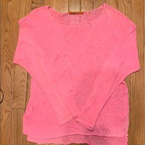 Feel The Piece Pink Lightweight Sweater